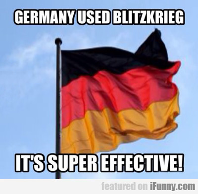 Germany Used Blitzkrieg...