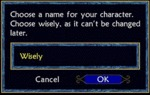 Choose A Name For Your Character...