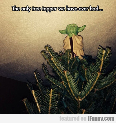 The Only Tree Topper We Have Ever Had...