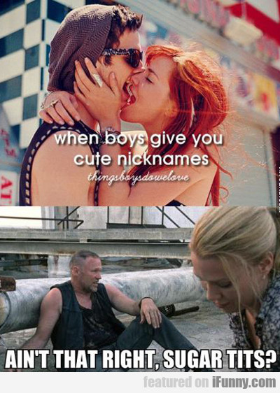 When Boys Give You Cute Nicknames...