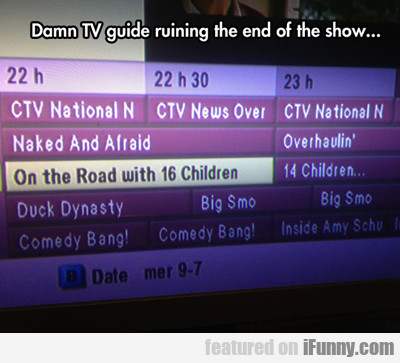 damn tv guide ruining the end of the show...