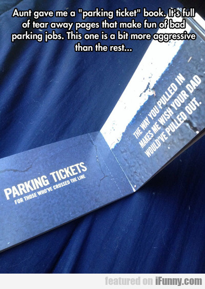 Aunt Gave Me A Parking Ticket...