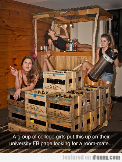A Group Of College Girls...