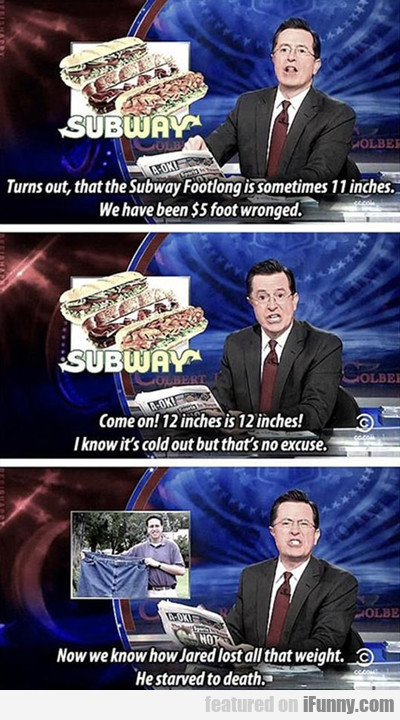 Turns Out That The Subway Foot Long...