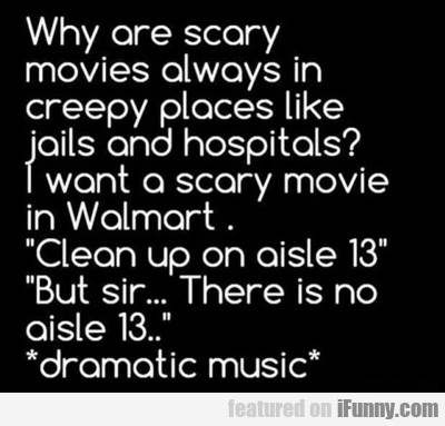 Why Are Scary Movies Always In...
