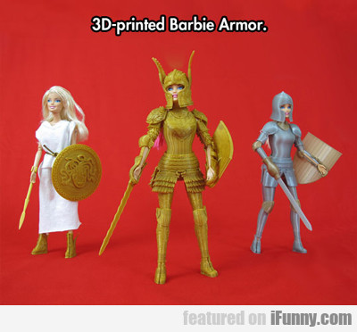 3d-printed Barbie...