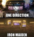 One Direction Vs Iron Maiden...