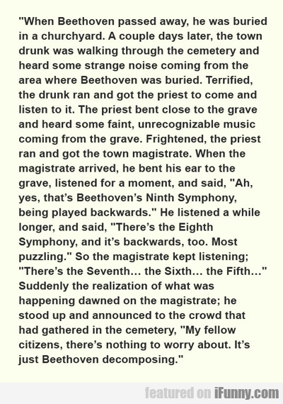when beethoven passed away...