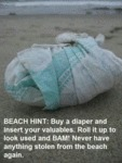 Beach Hint: Buy A Diaper And Insert
