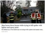 Man Burns Down House While...