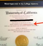 Worst Typo Ever In My College Diploma...