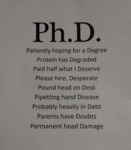 Ph. D. Patiently Hoping For A Degree