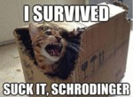I Survived! Suck It Schrodinger