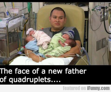 the face of a new father