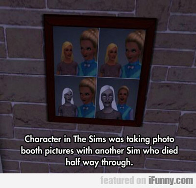 Character In The Sims Was Taking A Photo...