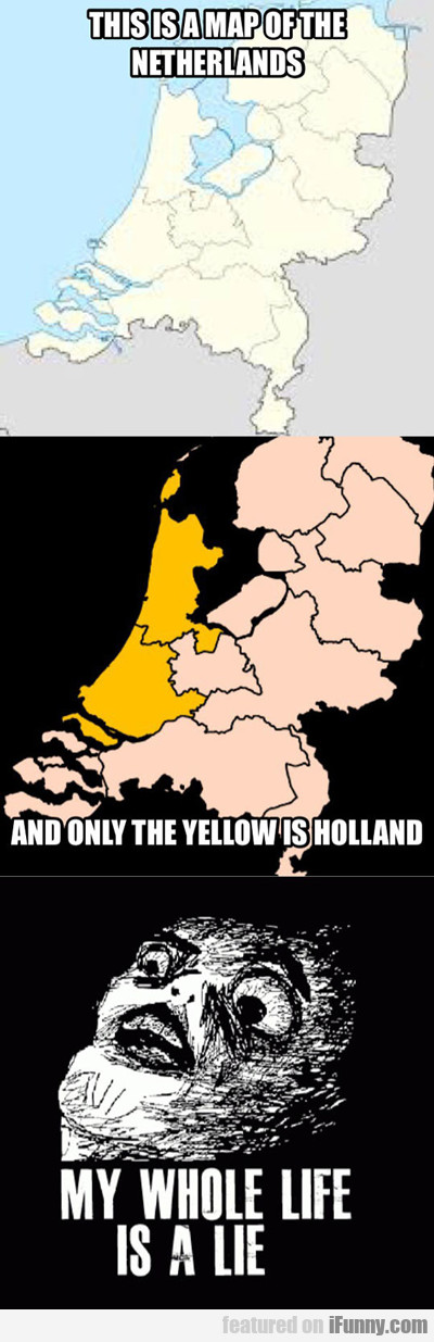 This Is A Map Of The Netherlands...