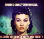 Smiling Gives You Wrinkles...