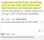 "In Germany We Don't Say ""let Me Hug You""..."