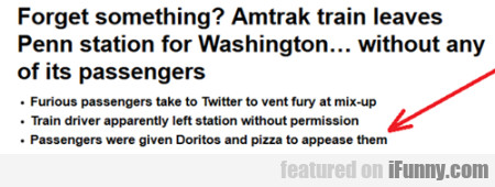 Forget Something? Amtrak