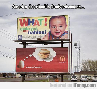 America Described In Two Adverts...