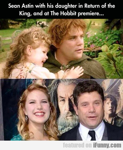 Sean Astin With His Daughter In Return Of The...
