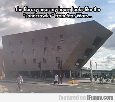 The Library Near My House Looks Like...
