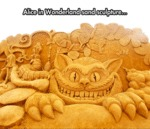 Alice In Wonderland Sand Sculpture...