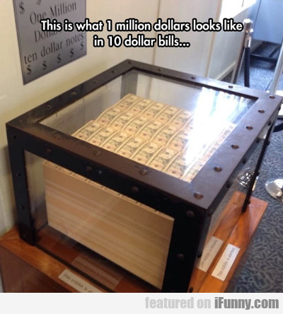 This Is What 1 Million Dollars Looks Like...
