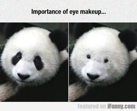 importance of eye make up...