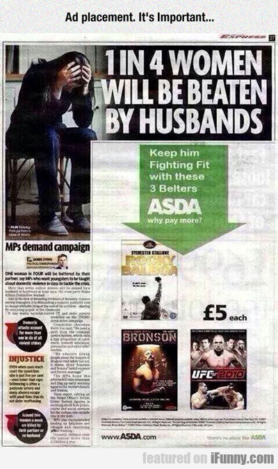 ad placement. it's important...