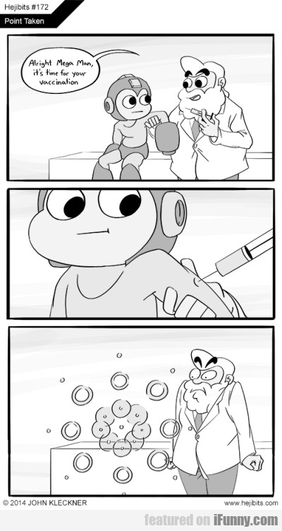 Alright Mega Man, it's time for your vaccination