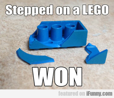Stepped On A Lego, Won...