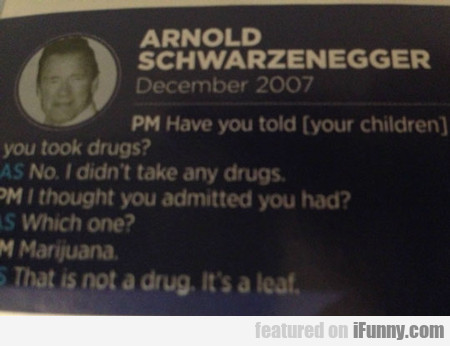 Have You Told Your Children You Took Drugs?