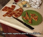 How I Make Vegetarian Pizza For My Girlfriend...