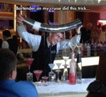 Bartender On My Cruise Did This Trick...