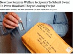New Law Requires Welfare Recipients To Submit...