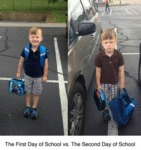 The First Day Of School Vs The Second Day