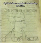 My Friend Draws On Students' Tests...