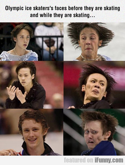 Olympic Ice Skaters's Faces...