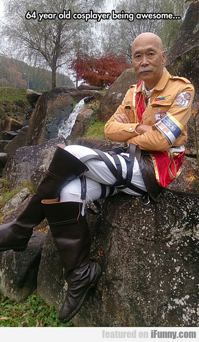 64 year old cosplayer being awesome...