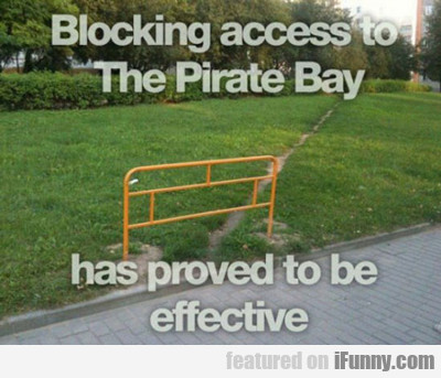 Blocking Access To The Pirate Bay...