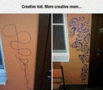 Creative Kid. More Creative Mom...