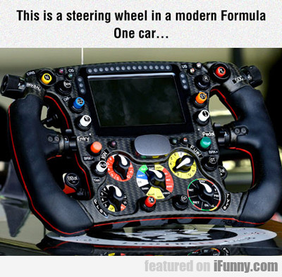 this is a steering wheel...