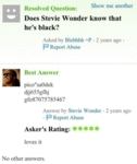 Does Stevie Wonder Know That He's Black