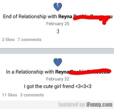 End Of Relationship With Reyna....