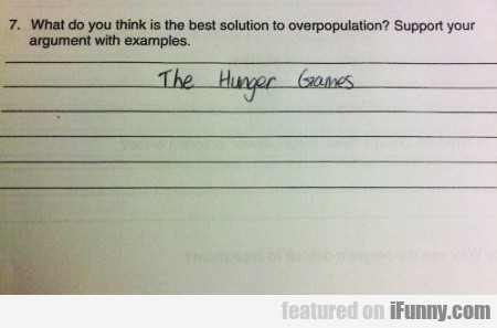 What Do You Think Is The Best Solution To...