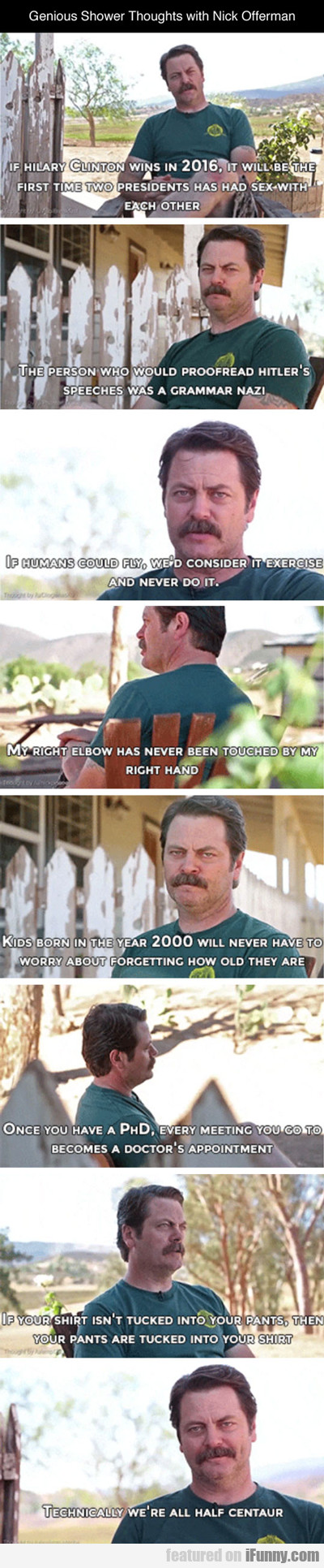 Genius Shower Thoughts With Nick Offerman...