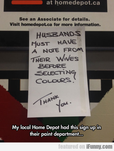 husbands just have a note