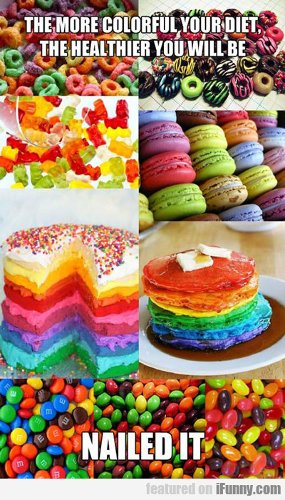 the more colorful your diet...