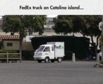 Fedex Truck On Catalina Island...